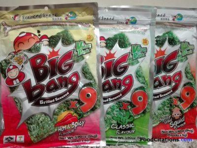 Big Bang Grilled Seaweeds by Tao Kae Noi Review