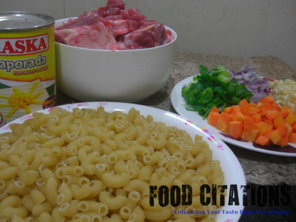Creamy Macaroni Soup Ingredients