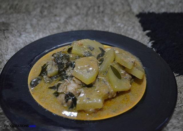 Spicy Ginataang Papaya