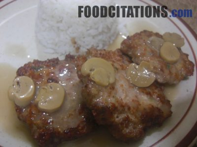 Burger Steak Recipe