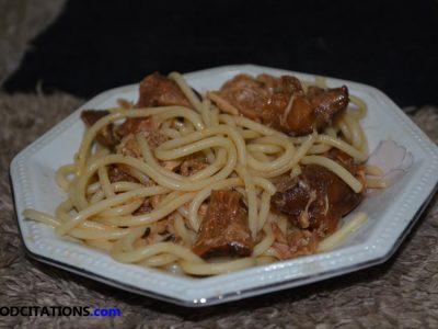 Chicken And Shiitake Mushroom Pasta