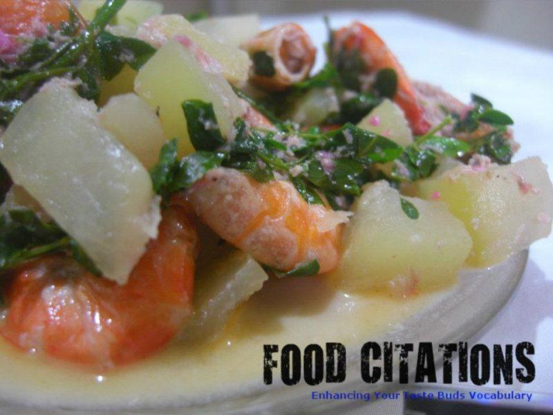 Ginataang Hipon at Papaya Recipe