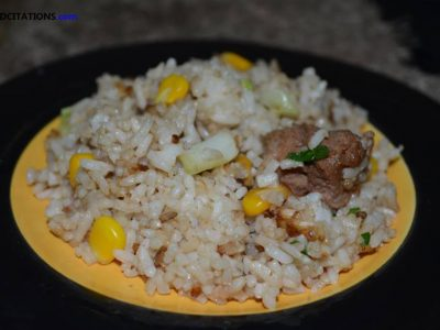 Fried Rice with Corn Recipe