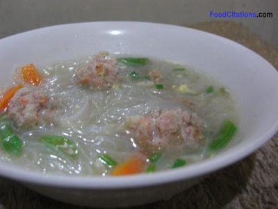Vermicelli and Meatballs Soup Recipe