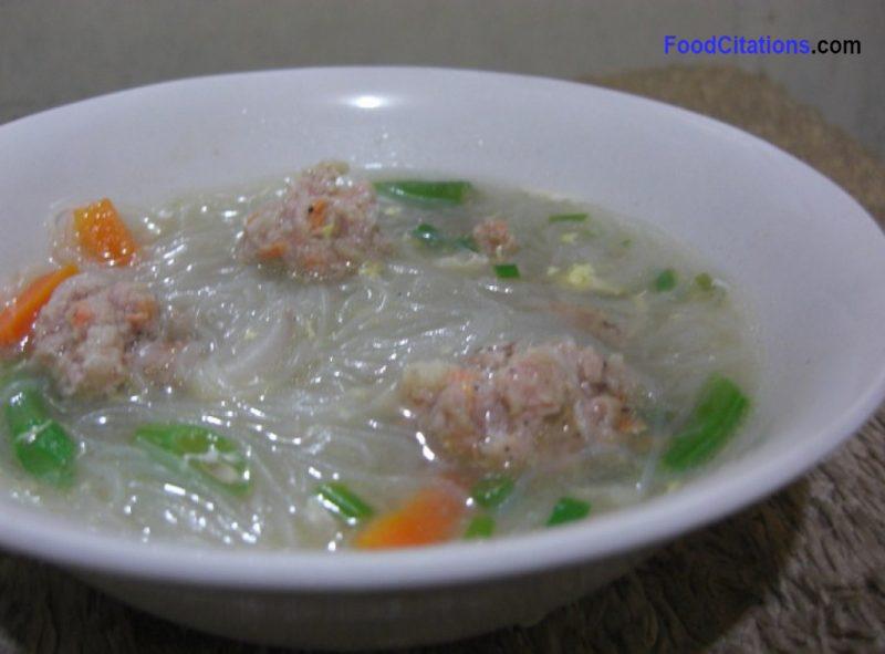 Vermicelli and Meatballs Soup Recipe