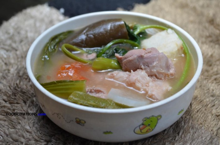 Sinigang Na Baboy With Gabi Recipe Food Citations
