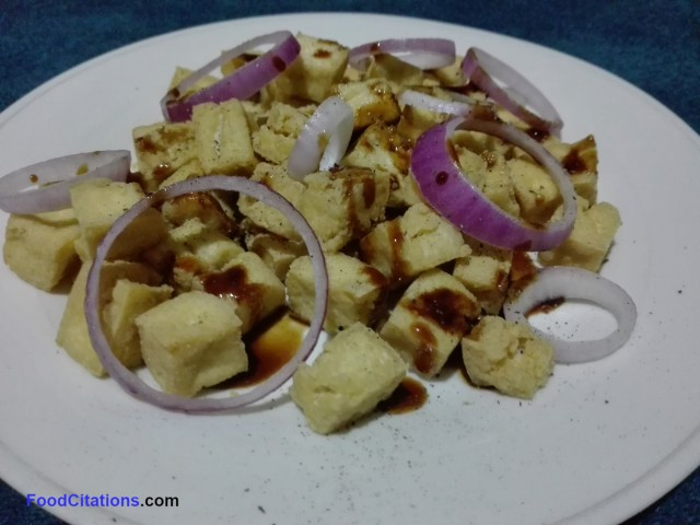 Simple Fried Tofu with Special Sauce