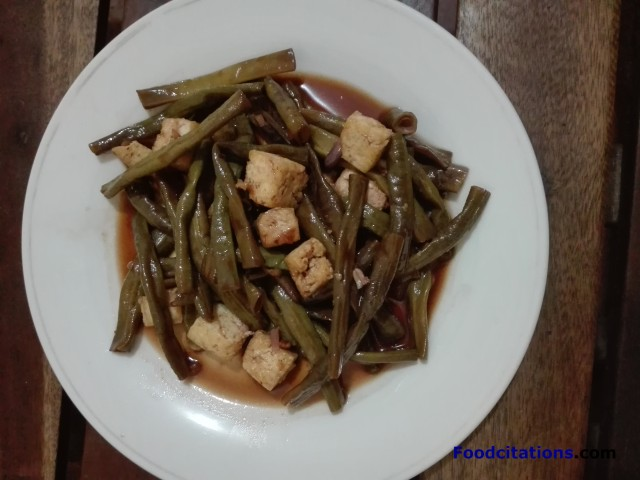 Adobong Sitaw with Tokwa