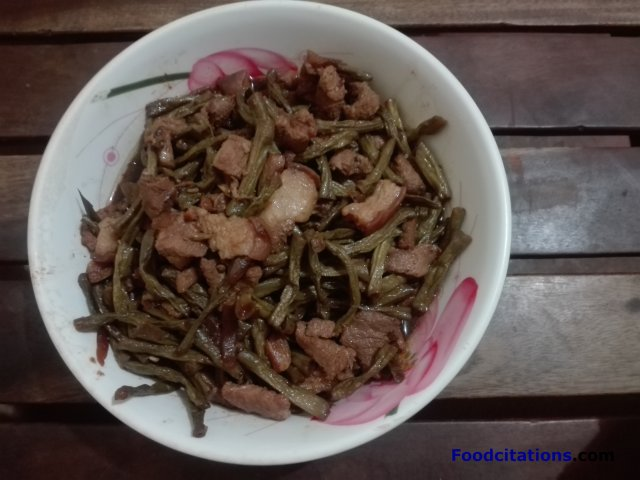 Pork And String Beans Adobo Recipe2