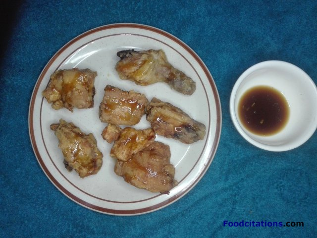 Fried Chicken With Honey And Calamansi Sauce