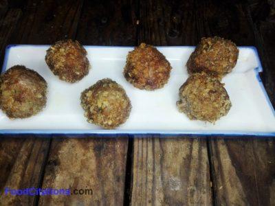 Crunchy-Skinned Beef Meatballs Recipe