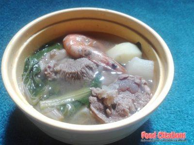 Nilagang Hipon At Baboy Recipe
